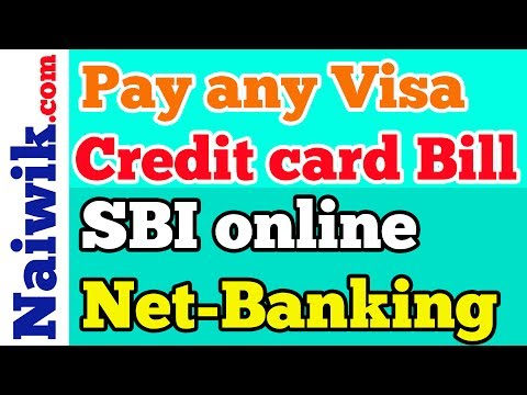 Pay Any Visa Credit Card Bill Using Sbi Online Internet Banking