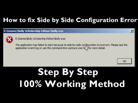 How to fix Side by Side Configuration Error Step by Step |Easiest Method| (100% working)