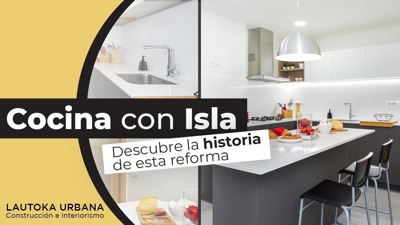 Abrir la cocina al pasillo reforma de cocina con isla for Cocinas abiertas al pasillo