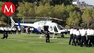 Presentan helicóptero de la policía de Ecatepec