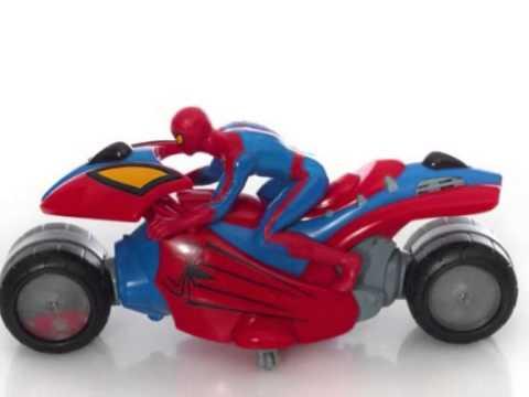 Spiderman motocicleta juguetes para ni os hombre ara a motos juguetes infantiles youtube - Spider man moto ...