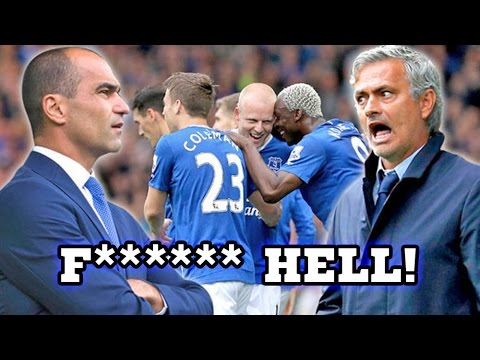 'F*****g Hell!' Jose Mourinho's Outburst At Roberto Martinez After Chelsea's Defeat To Everton