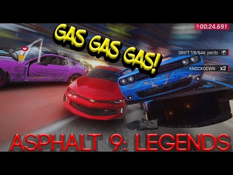 Asphalt 9: Legends. GAS GAS GAS! Eurobeat + Lyrics.
