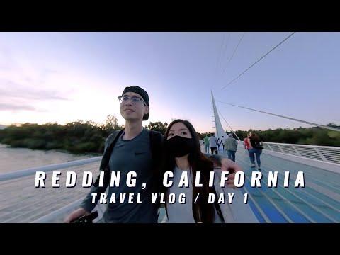 REDDING CALIFORNIA TRAVEL VLOG: SUNDIAL BRIDGE, WHISKEYTOWN LAKE |ANNIVERSARY WEEKEND | INSTA360