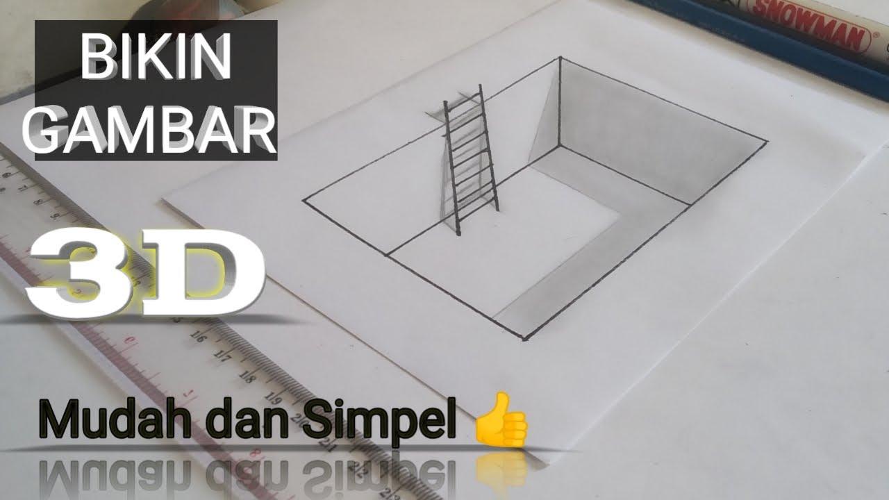 Cara Bikin Gambar 3D simpel | Pencil - YouTube