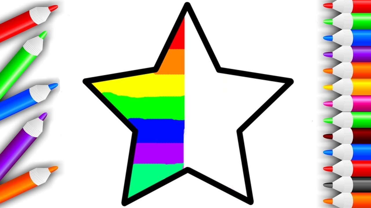 Мультик - Раскраска | Звезда | Учим цвета | Развивающее ...