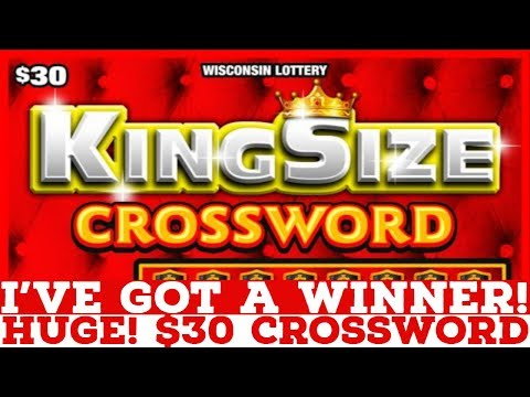 HUGE! $30 Crossword WINNER From The WI Lotto! 👍