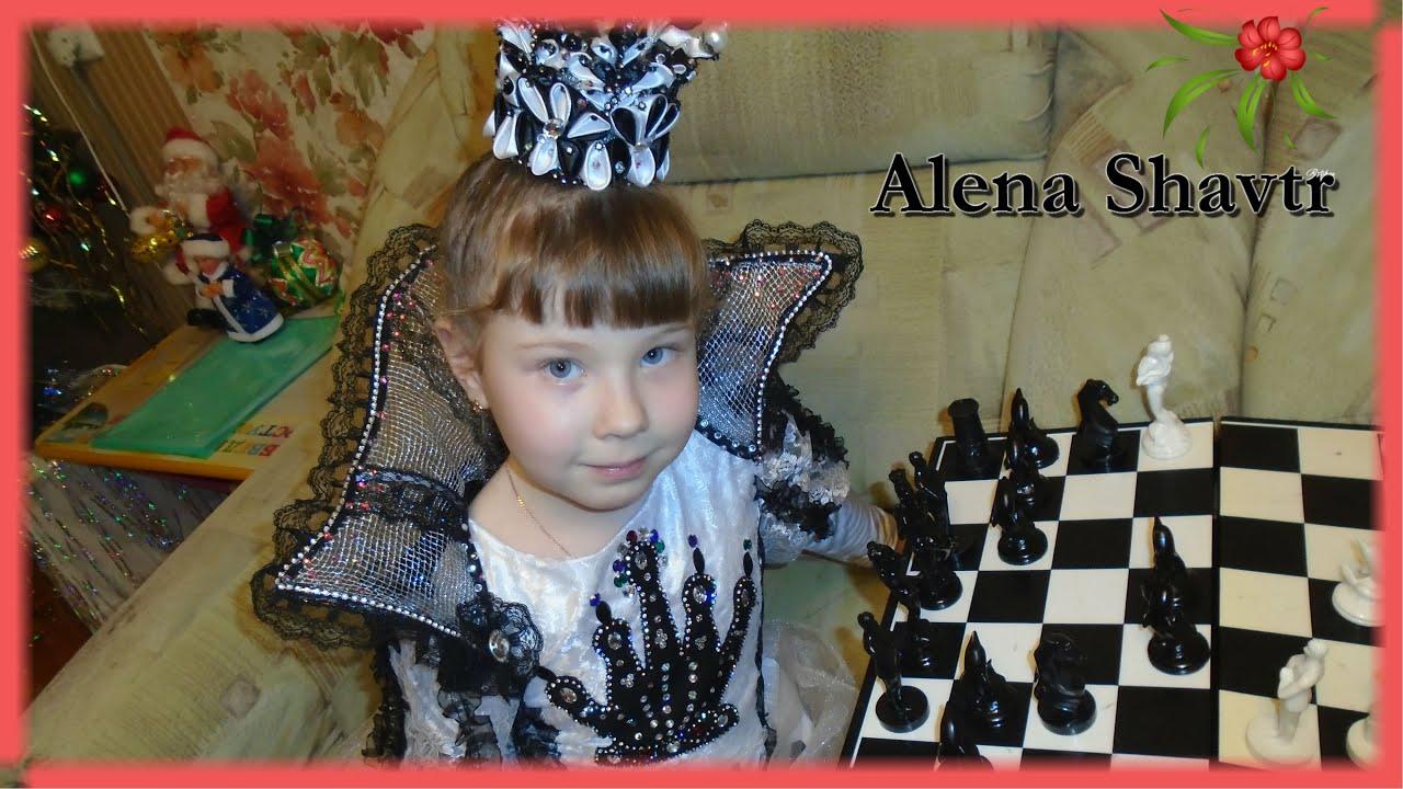 164Костюм шахматной королевы для девочки