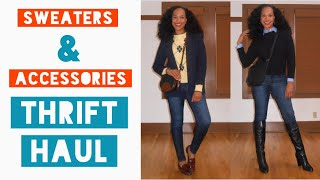 Sweaters and Accessories | THRIFT HAUL 2018