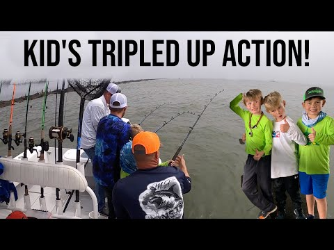 How To Catch MASSIVE Fish W/ Kid's! (Galveston Jetty's)
