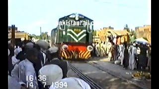 Weekend market on railway track in Rawalpindi, Pakistan(1994).
