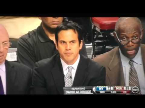 Miami heat head coach farting on the bench