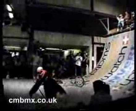 Matt Hoffman - First pulled BMX 180 Backflip (aka Flair) Mansfield, UK KOV / King of Vert 1990