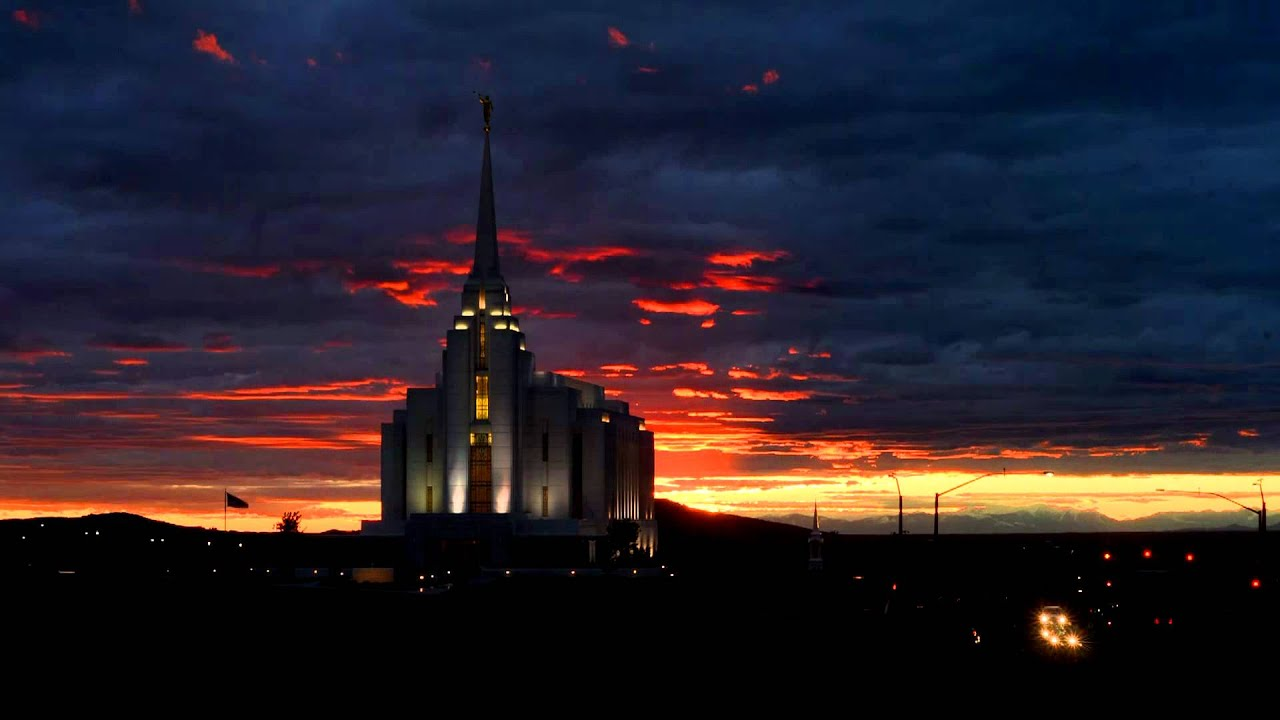 Rexburg lds temple sunset time lapse youtube - Lds temple wallpaper ...