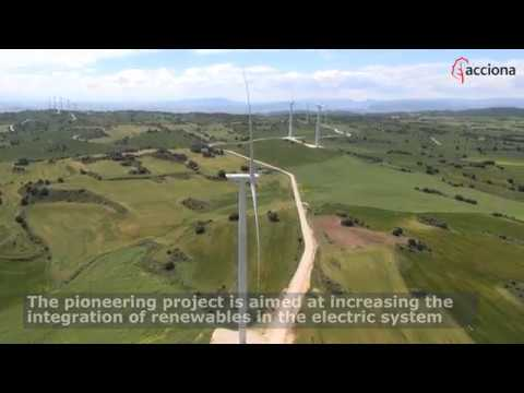 The first hybrid wind power storage plant in Spain using batteries