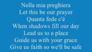 Celine Dion ft Andrea Bocelli The Prayer Lyrics