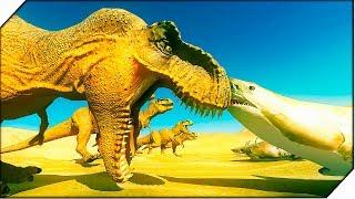 ГОЛОДНЫЕ АКУЛЫ СЪЕЛИ ВСЕХ РЫЦАРЕЙ - Игра Beast Battle Simulator. Битва динозавров
