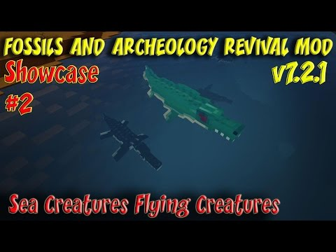 Fossil and Archeology Revival Mod Showcase #2 Sea Creatures Flying Creatures Mammals