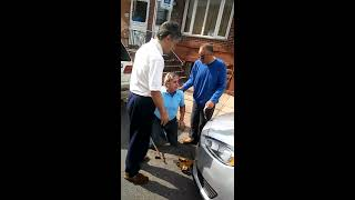 Fighting and arguing over a public parking spot in Philadelphia pt.1 of 2