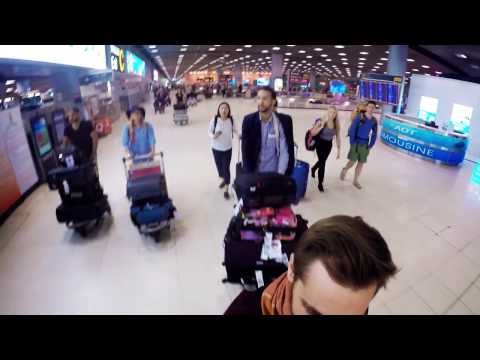 Fashion Expedition in Thailand: 2 : airport Bangkok with bagages (Romuald Bertrand Couture)