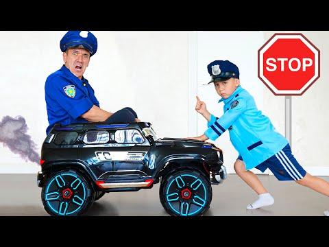 Сеня играет в Полицейского и Увольняет сонного Копа