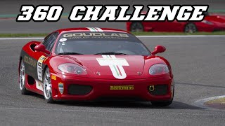 Ferrari 360 Challenge - loud downshifts