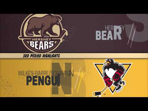 Hershey Bears 5 at Wilkes-Barre/Scranton Penguins 3 (1/19/2019)