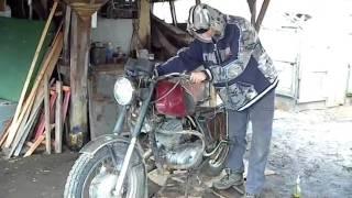 Russian moto izh planeta-5 starting not