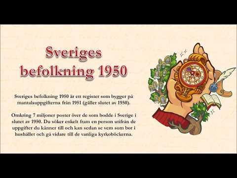 Sveriges befolkning 1950 med berättarröst