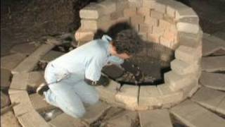 How To Build A Bbq Pit Fire : Protection While Building A Bbq Pit Fire