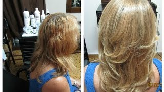 Caucasian |  Straighter Hair using OXX System