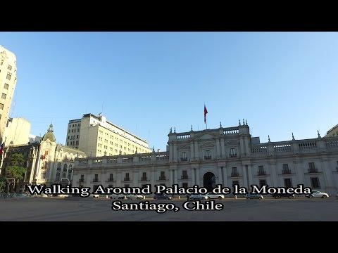 Walking around Palacio de la Moneda - Santiago, Chile