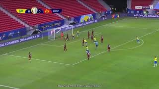 اهداف البرازيل وفنزويلا في افتتاح مباريات كوبا امريكا 2020
