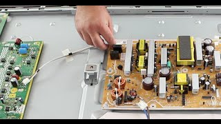 Plasma TV Repair Help Clicking Noise & No Picture How to Troubleshoot Y Sustain & X Sustain Problems