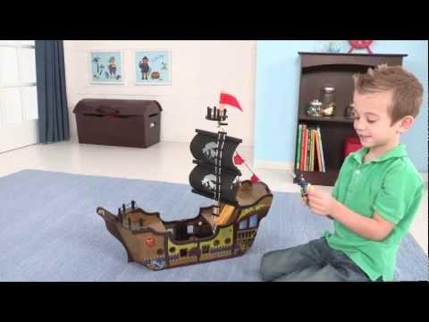 Wooden Pirate Ship Play Set - Item 63300