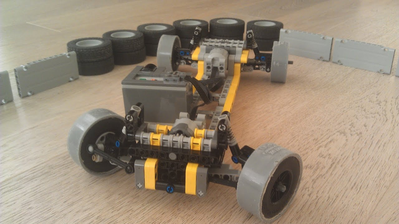 Lego Technic Rc Drift Car Chassis Youtube