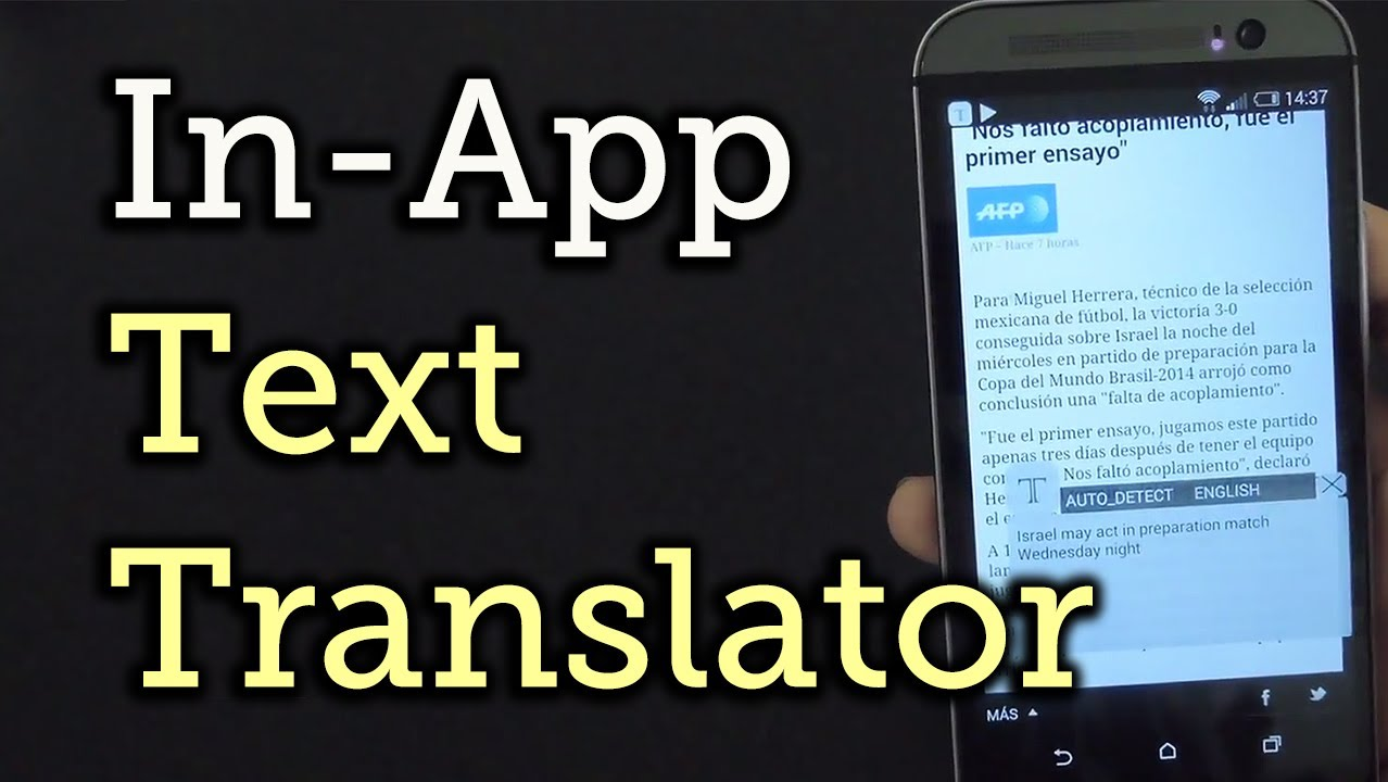 Translate Any App's Text on Android with Inapp Translator - HTC One [How-To]