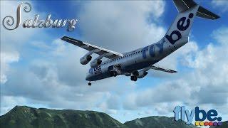 fsx hd flybe bae 146 300 to salzburg