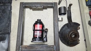 Homemade Shop Press Removing Front Wheel Bearings