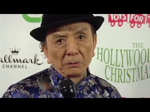 Johny Pach interviewing Hollywood legend James Hong