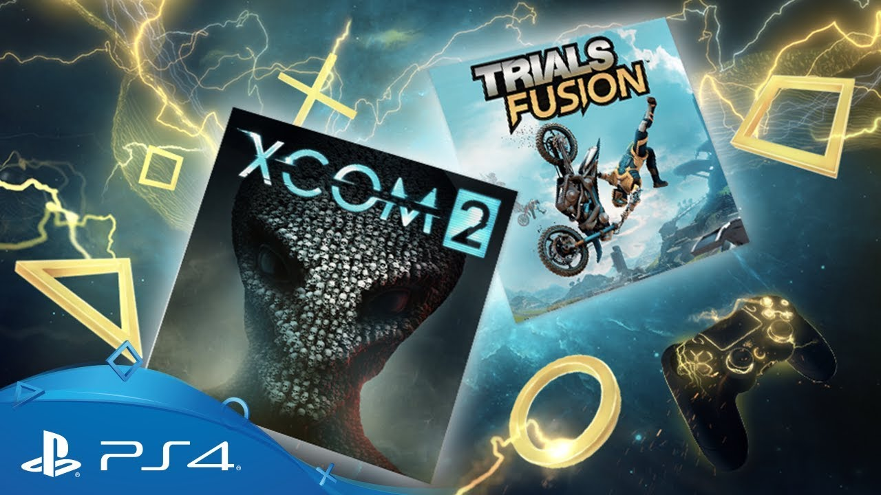 XCOM 2' and 'Trials Fusion' highlight the free PlayStation