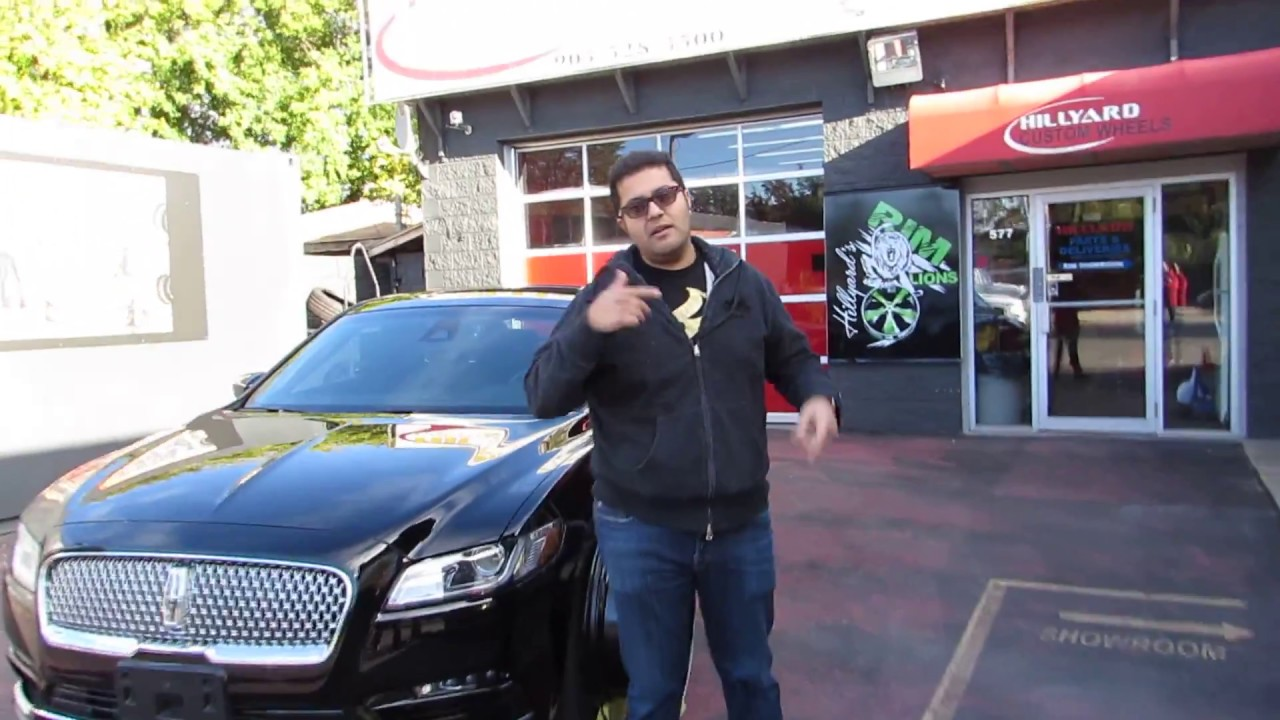 2017 LINCOLN CONTINENTAL WITH 22 INCH CUSTOM RIMS - YouTube