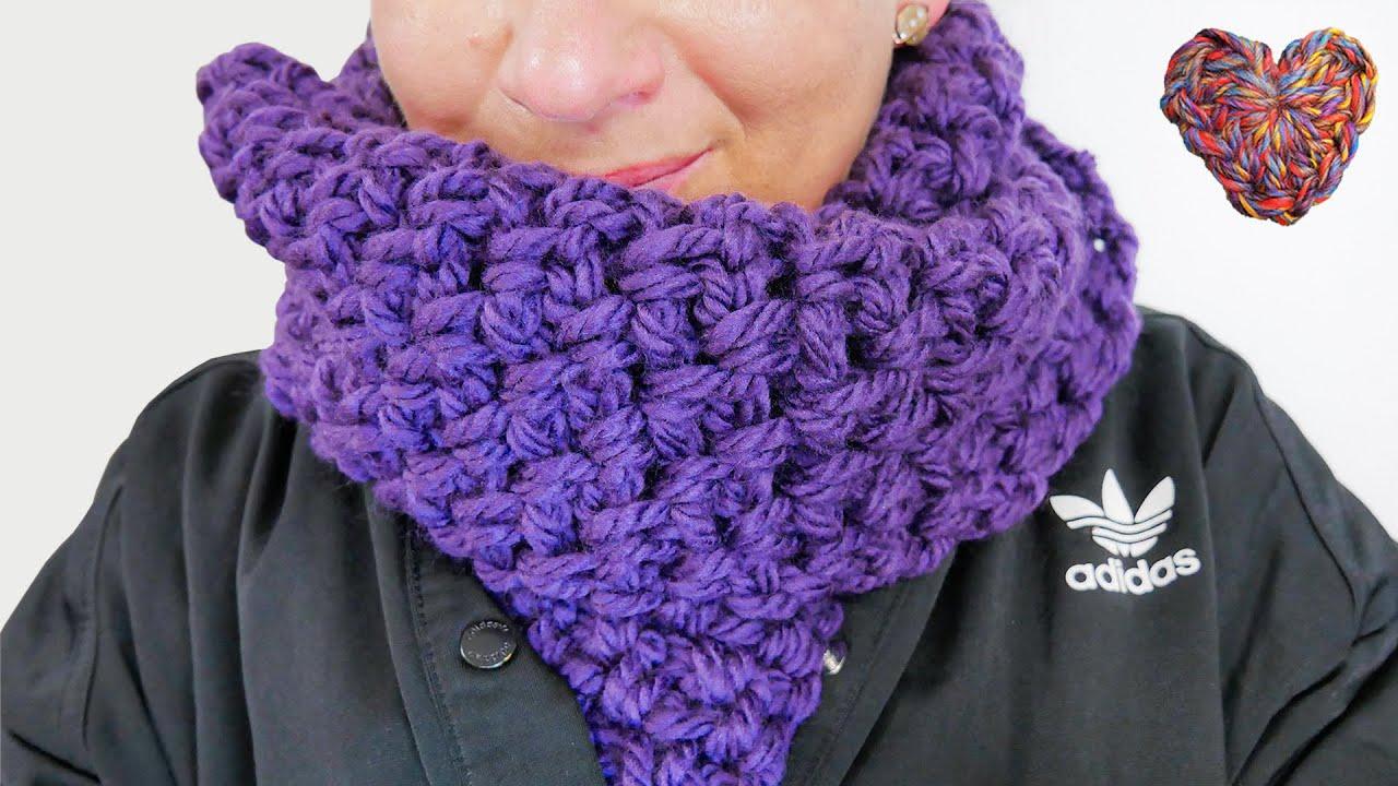 Download Winter Schal aus XXL Wolle | HÄKELN | einfache Anleitung