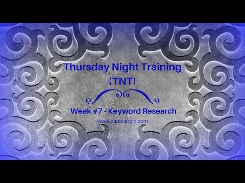 Keyword Research - TNT Wk #7