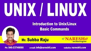 UNIX/Linux - Basic Commands | UNIX Tutorial | Mr. Subba Raju