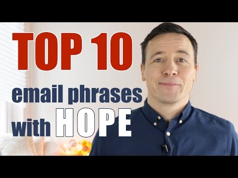 Top 10 email phrases with HOPE