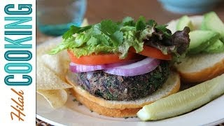 Black Bean Quinoa Burgers |  Hilah Cooking