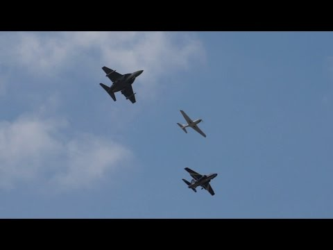 BLACK SHAPE BS100 , Alenia AERMACCHI M-345 and M-346 flypast at Farnborough Airshow 2014
