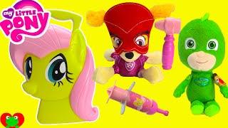 My Little Pony Fluttershy Vet Case Paw Patrol Skye Chase PJ Masks Visit Doctor