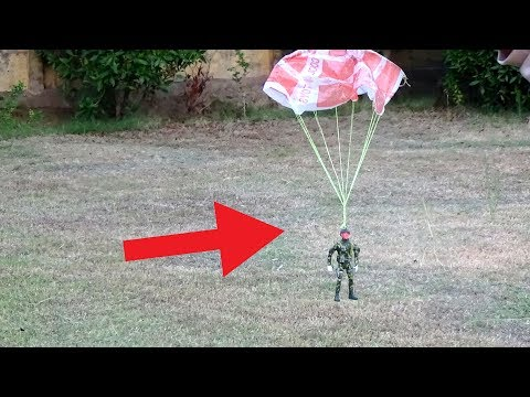 Make Parachute jump toy,awesome diy toy